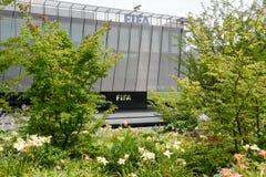 Hauptsitze von FIFA in Zürich auf der Schweiz lizenzfreie stockbilder