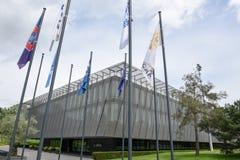 Hauptsitze von FIFA in Zürich auf der Schweiz lizenzfreies stockbild