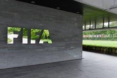 Hauptsitze von FIFA in Zürich auf der Schweiz lizenzfreie stockfotos