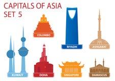 Hauptstädte von Asien Lizenzfreie Stockfotografie