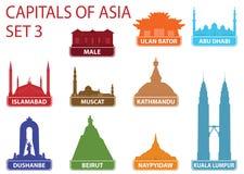 Hauptstädte von Asien Lizenzfreie Stockfotos