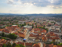 Hauptstadt Ljubljana in Slowenien Stockfotos