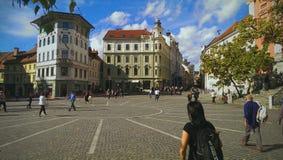 Hauptstadt von Slowenien Stockfotos