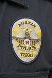 Hauptstadt von Texas Austin Police Badge Stockbild