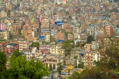 Hauptstadtansicht Kathmandus Nepal Stockbild