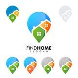 Hauptstiftlogo, dargestelltes Immobilienvektorlogodesign Stockfoto