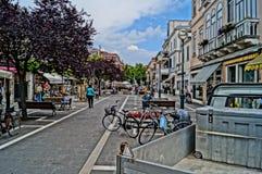 Hauptstraße Lido Venedig Lizenzfreies Stockbild