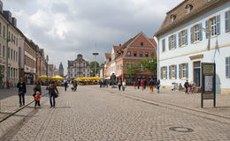 Hauptstraße Speyer, Deutschland Stockbild