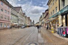 Hauptstraße Speyer, Deutschland Stockfotografie