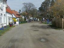 Hauptstraße vom Dorf von Kloster auf Hiddensee Lizenzfreies Stockfoto