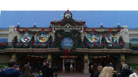 Hauptstraßenstation Disneylands Paris Lizenzfreies Stockfoto