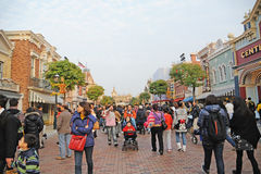 Hauptstraße von Hong Kong Disney Stockfotografie