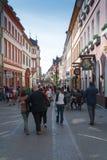 Hauptstrasse a Heidelberg Immagini Stock Libere da Diritti