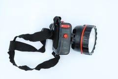 Haupttaschenlampe lokalisiert auf weißem Hintergrund lizenzfreie stockfotografie
