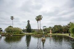 Hauptteich: Königliche botanische Gärten Lizenzfreies Stockbild