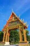 Haupttor von Tempel Wat PhuTonUTidSitThaRam in Surat Thani, thail Lizenzfreie Stockfotografie