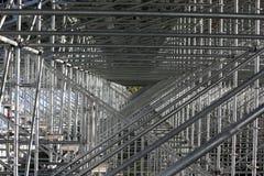 Haupttribüne-Baugerüst Stockfoto