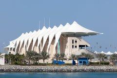 Haupttribüne bei Yas Marina Circuit, Abu Dhabi Lizenzfreie Stockfotografie