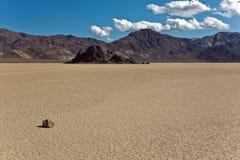 Haupttribüne und Rennbahn Playa, Death Valley Natio Lizenzfreie Stockfotografie