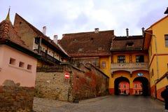 Hauptturm in der mittelalterlichen Festung Sighisoara, Rumänien Lizenzfreies Stockfoto