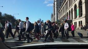 Hauptverkehrszeit in Chicago Stockbild