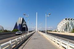 Hauptverkehrszeit in der im Stadtzentrum gelegenen Mitte von Valencia City Lizenzfreie Stockfotos