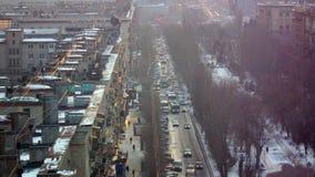 Hauptverkehrszeit in einer großen Stadt Stockfotografie