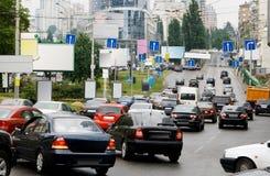 Hauptverkehrszeit in einer großen Stadt Lizenzfreies Stockfoto