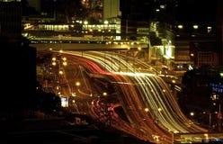 Hauptverkehrszeit-Lichter Stockbild