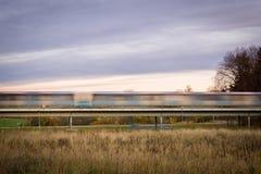 Hauptverkehrszeit-Untergrundbahnbewegungsunschärfe Stockbilder