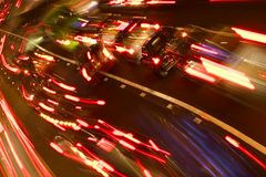 Hauptverkehrszeit-Verkehr Stockbilder