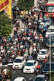 Hauptverkehrszeiten auf Hauptstra?e lizenzfreies stockbild