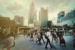 Hauptverkehrszeiten in Tokyo lizenzfreie stockfotografie