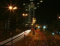 Hauptverkehrszeitleuchten Stockbild