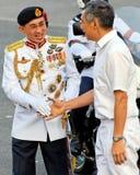 Hauptverteidigung-Kraft begrüßt Premierminister Stockfoto