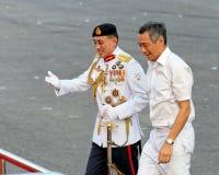 Hauptverteidigung-Kraft begrüßt Premierminister Stockfotos