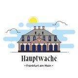 Hauptwache Frankfurt - f.m. - huvudsaklig illustration i Tyskland Royaltyfri Fotografi