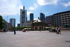Hauptwache Frankfurt arkivfoton