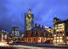Hauptwache square in Frankfurt am Main. Germany stock photography