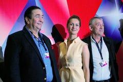Hauptwettbewerbsjurymitglieder, 38. internationales Film-Festival Moskaus Stockfoto