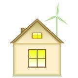 Hauptwindkraftanlage - Konzept der erneuerbaren Energie Stockbild