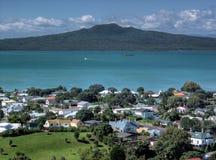 Hauraki Gulf. And Rangitoto Island from Mt Victoria, Auckland, New Zealand Royalty Free Stock Photos