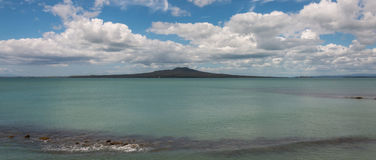 Hauraki Gulf with Rangitoto Island Stock Image