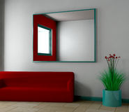 Haus - 3D Lizenzfreie Stockfotos