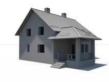 Haus 3d auf Weiß Lizenzfreie Stockfotos