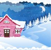 Haus abgedeckt mit Schnee Stockfotos