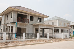 Haus aktuell im Bau Lizenzfreies Stockfoto