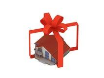 Haus als Geschenk Lizenzfreie Stockbilder