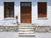 Haus in altem Korinth Stockfotografie