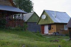 Haus in Apuseni-Bergen, Siebenbürgen, Rumänien stockfotos